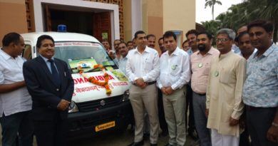 The Chief Justice of High Court of M.P. and the District Collector Inaugurated the Ambulance