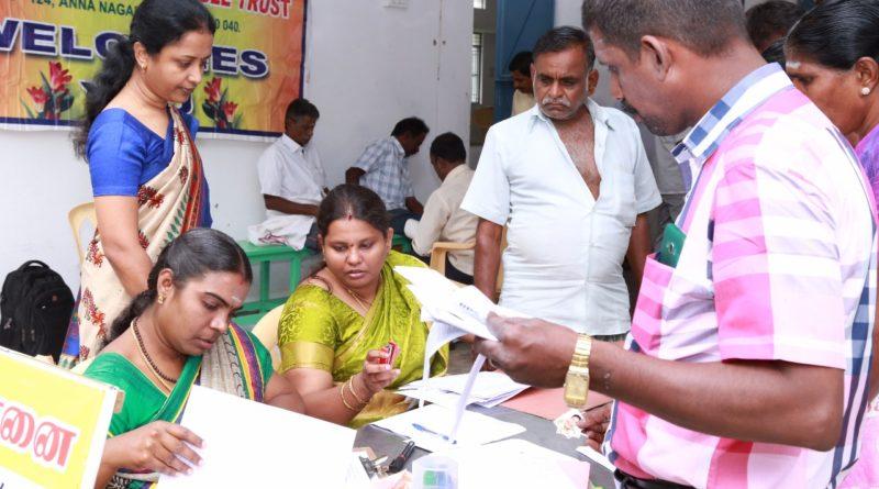Dakshin tamilnadu prant artificial limbs camp at Tirupur